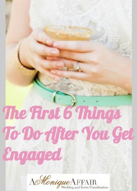 after engagement what to do first