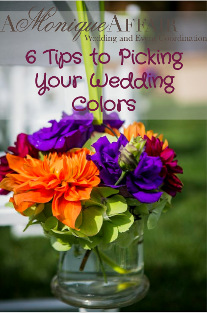 6 tips to picking your wedding colors